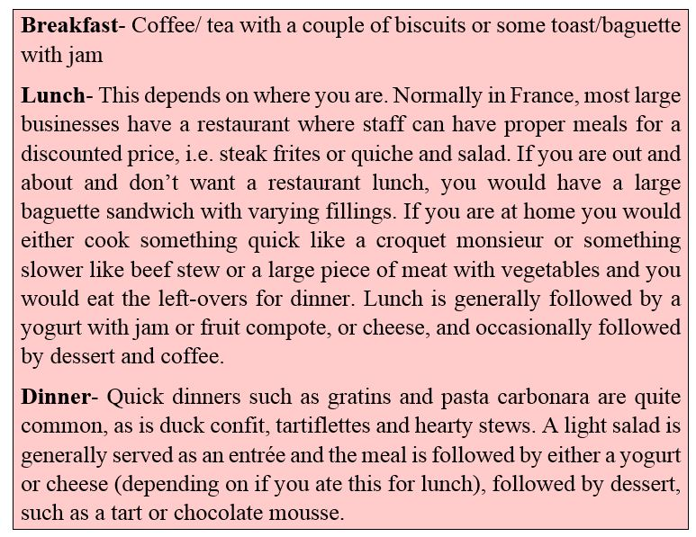 Would you like something to eat in french